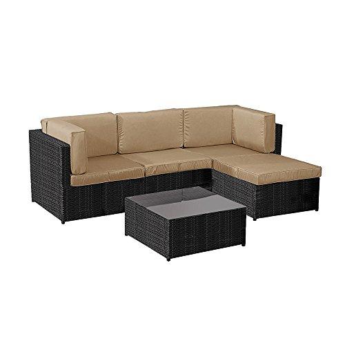 Lounge Möbel Patio (5x Terrasse Lounge Rattan Ecksofa Garten Möbel Sets)