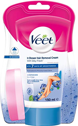 Veet In-shower Hair Removal Cream, Sensitive Skin - 150 ml