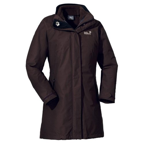 Jack Wolfskin Damen Jacke Ottawa Coat Women, coffee brown, S, 1000413702