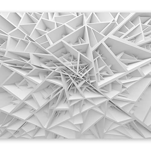 murando – Papier peint intissé – 350x256 cm – Trompe l oeil - Tableaux muraux – Déco – XXL– Abstraction 3D a-B-0039-a-a
