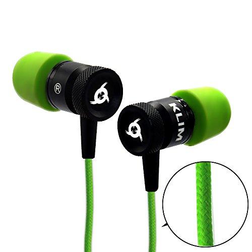 Auriculares KLIM Fusion de alta calidad de audio - De larga duración + 5 años de garantía - Innovadores: con espuma que retiene la forma de tu oreja [Nueva Versión 2017] Cable Trenzado