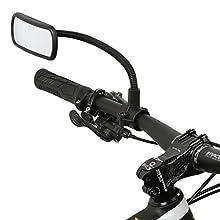 Wicked Chili - Specchietto Retrovisore per bicicletta/bici elettrica/ Scooter/ Motorino/ Sedia a rotelle/ Deambulatore/ passeggino/ Golf Cart, collo di cigno (Dimensioni Specchio: 104X 42mm, montaggio su superfici tubolari, made in Germany)