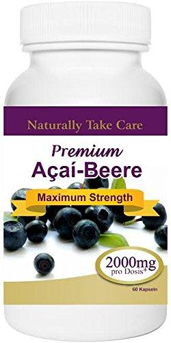 Premium-Acai Beere 2000mg beste Qualität für extremen Gewichtsverlust besten Abnehmen und Diät Ergebnisse Acai-Beere von Dr. Oz empfohlen