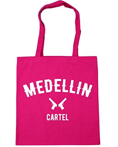 hippowarehouse-medellin-cartel-pablo-escobar-tote-compras-bolsa-de-playa-42-cm-x38-cm-10-litros-rosa