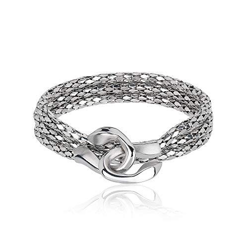Breil bracciale multigiro da donna in acciaio lucido con elemento centrale in acciaio lucido tj2267