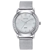 Mestige Antoine Women's Silver Dial Stainless Steel Band Watch - Mswa3020, Analog Display, Japanese Quartz Movement