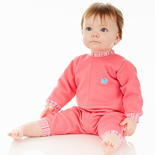Splash About Kids' Warm-In-One Wetsuit – Pink Candy, 3-6 Months