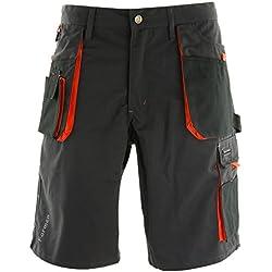 REIS Pantalons de Travail for Men |65% Polyester 35% Coton | Pantalon de Sécurité avec Elastique | Shorts de Jardinage | Taille L