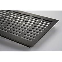 Rejilla de ventilación de aluminio anodizado marrón, largo 1500 mm, diversos anchos - 130 mm