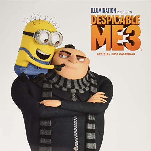 Despicable Me 3 Official 2018 Calendar - Square Wall Format (Calendar 2018) (Despicable Me Edith)