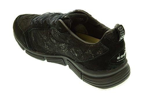 ... DIADORA HERITAGE donna sneakers basse 161931 01 80013 SYMBOL W LACE Nero  ... f768862a105