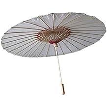 ROSENICE Sombrilla de bambú paraguas chino japonés estilo asiático papel engrasado talla L