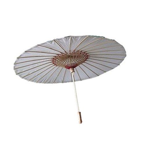 rosenice huilé papier bambou parapluie parasol parapluie - Taille L