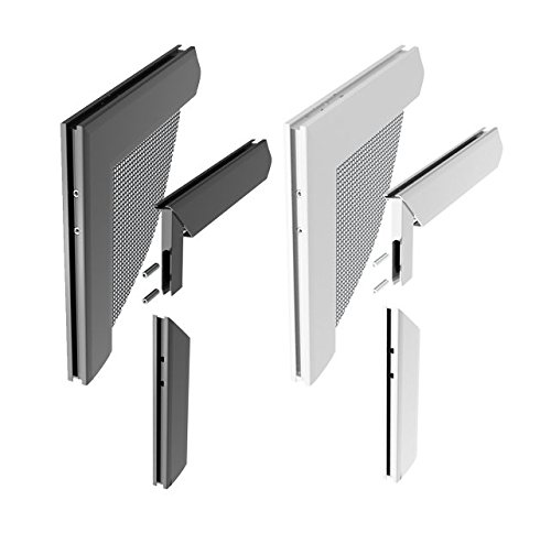 Windhager Insektenschutz Z8 Aluminium-Eckverbinderset, silber, 0,68 x 6 x 6 cm