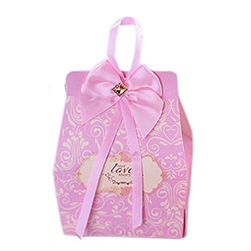 Baby-Dusche Dekorationen Hochzeitsfestbevorzugung Kisten Süßigkeiten Band Box 20 Stück personifizierte (Bonbons oder Pralinen nicht enthalten) ()