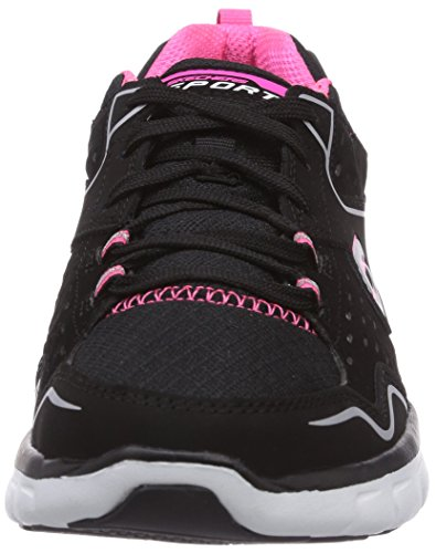 Skechers Synergy Front Row Damen Sneakers Schwarz (Bkhp)