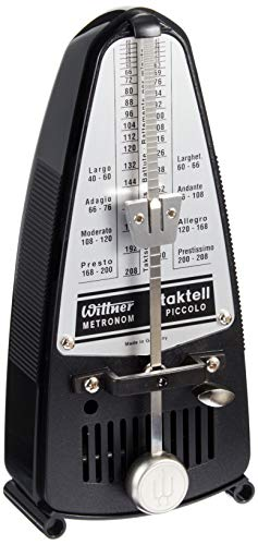 Wittner Taktell Piccolo Metronom Kunststoffgehäuse ohne Glocke schwarz
