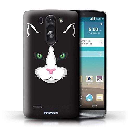 Kobalt® Imprimé Etui / Coque pour LG G3 S (Mini)/D722 / Chat noir conception / Série Museaux Noir
