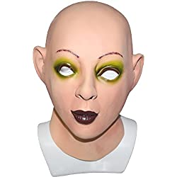 Hengyutoy Mask Cosplay de Halloween Cosplay Latex Femenino Crossdresser Máscara transgénero