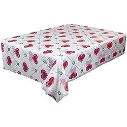 MOIKA Nappe Jtable Blanche Rose Noire Rouge Carré Nappe Imperméable Style Simple Coloré Impermeable Essentials Maison Couverture de Table de Pique Nique(H,180 * 180)