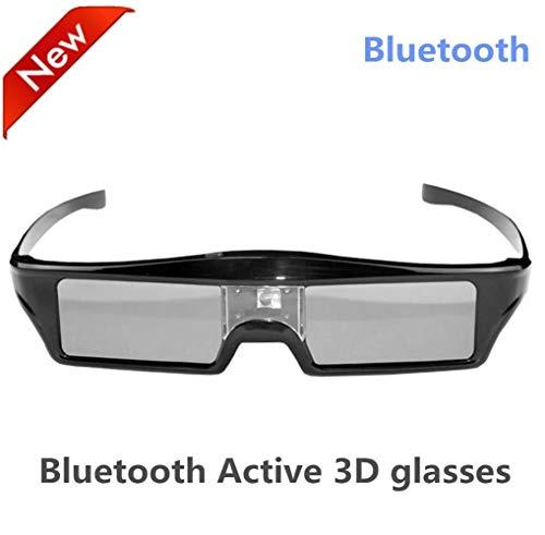 You will think of me Gafas con Obturador Activo Bluetooth 3D para Televisores EPSON 3D SSG-5100GB con Serie D E ES F H HU (Color : Black)