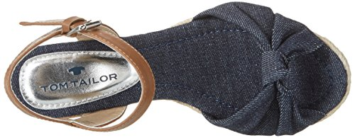Tom Tailor 2790702, Scarpe Col Tacco con Cinturino a T Donna blu (navy)
