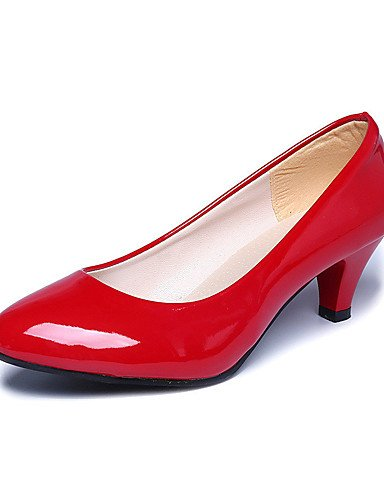 WSS 2016 Chaussures Femme-Mariage / Bureau & Travail / Habillé / Décontracté / Soirée & Evénement-Noir / Rose / Rouge / Blanc / Beige-Gros Talon- white-us9 / eu40 / uk7 / cn41