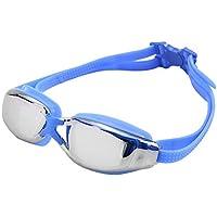 FengHP Gafas de natación con protección UV, sin Fugas Protección UV antivaho reflejada, Gafas de natación Ultra claras de triatlón de visión Amplia para Hombres Mujeres para Hombres Mujeres