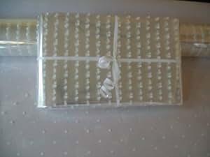 5 m rotolo di Natale a pois bianchi daydaycover Cellophane pellicola regalo - Trasparente - 5 metri x 80 cm