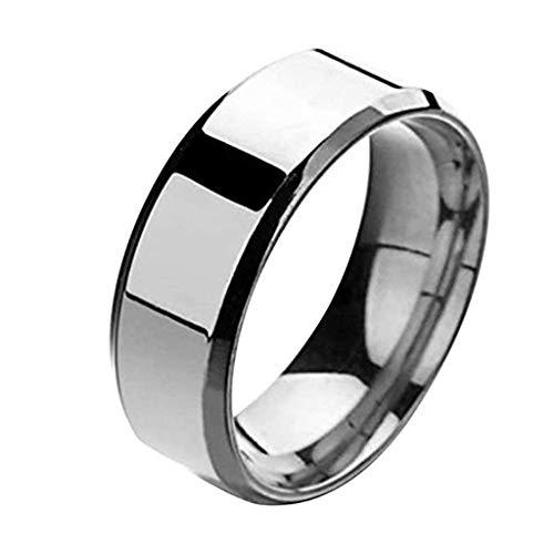 JUSTSELL  Ring, Stilvoller Minimalistischer Unisex-Paar Ring Schwarzer Silberner Einfacher Ringring...