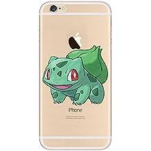 iPhone 5c Pokemon Caja de Silicona / Bulbasaur Cubierta de Gel para Apple iPhone 5C / Protector de Pantalla y Paño / iCHOOSE
