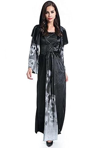 HZHF Femmes Sexy Masquerade capuche Robe Cape Halloween cosplay sorcière