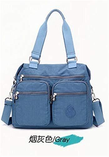 Frauen große Kapazitäts-Geldbeutel und Handtaschen Schultertasche Damen Designer Satchel wasserdicht Nylon Messenger-Taschen-Tasche Ursprüngliche (Color : 7) -