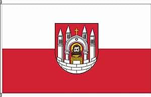 Königsbanner Tischfähnchen Merseburg - Tischflaggenständer aus Holz