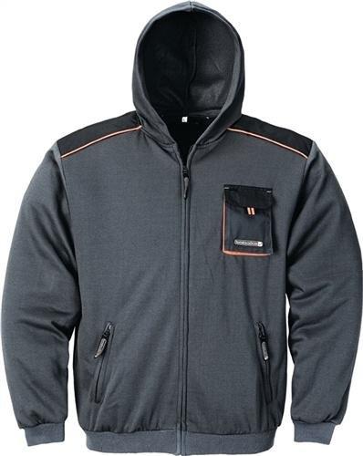 Terratrend Job Sweatjacke dunkelgrau/schwarz Größe M (Shirt Reißverschluss-job)
