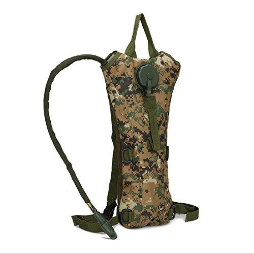 Camouflage Military Hydration Wasser Reservoir Rucksack mit 3L Blase pack Bag Sport Outdoor Klettern Laufen Wandern Radfahren Camping Jagd von Hi suyi Jungle digital