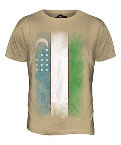 CandyMix Usbekistan Verblichen Flagge Herren T Shirt Sand