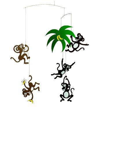 Flensted Affen Mobile, handgemachte Dekoration aus Dänemark