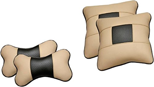 Pegasus Premium Leatherite Car Pillow Cushion For Honda Amaze (Rectangular, Pack of 4)  available at amazon for Rs.799