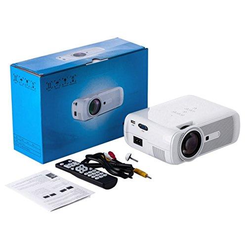 Preisvergleich Produktbild HD 1080P LED Mini Beweglicher Projektor Multimedia Heimkino Vivid Kino (Farbe: Weiß)