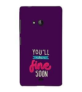 FUSON You Will Fine Soon 3D Hard Polycarbonate Designer Back Case Cover for Microsoft Lumia 540 Dual SIM