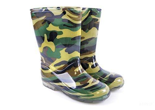 Enfants Camouflage PVC Wellington Bottes - Enfants EU 30