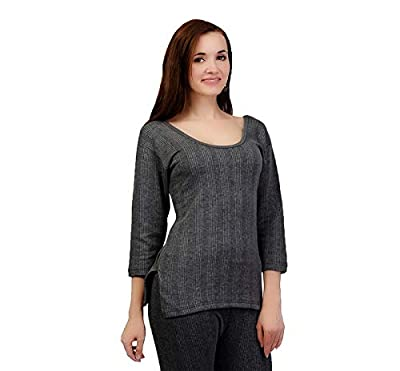 ZIMFIT Cotton Women's or Girls Winter wear Full Sleeves Thermal,Warmer Top in Dark Grey Colour (Pack of 2)
