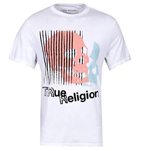 True Religion Skull Print White T-Shirt - XXL