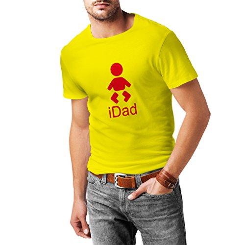 lepni.me Männer T-Shirt IDad bester Vati überhaupt Geschenk für Männer Vatertagsgeschenke geschenke für papa (X-Large Gelb Rote) (Test-kleinkind-t-shirt)