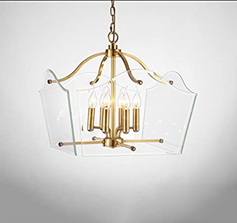 Tous les pays américains lampe en cuivre Jane Beauté Restaurant lampe de table en verre carré conception modèle maison villa d