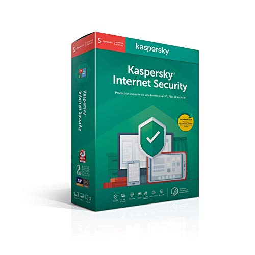 Kaspersky Internet Security 2020 (5 Postes / 1 An)|Internet Security|5 appareils|1 An|PC/MAC/Android|Telechargem