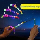 Ceanfly 2pcs Fliegender Mini Flugzeug Hubschruber mit LED Leuchtung, Kinder Fliegen Spielzeug für Kinder Jugendliche