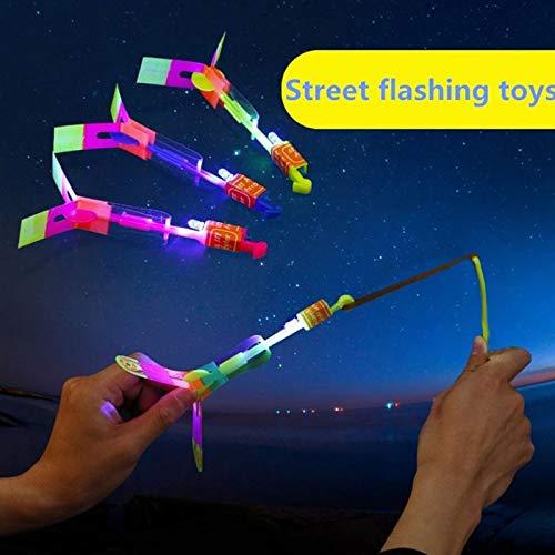 Nisels 2pcs Flying Mini helicóptero Plano con luz LED, niños Volando Juguetes para niños Adolescentes