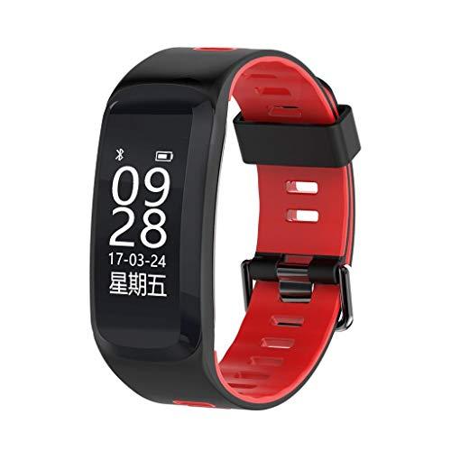 AMCER Fitness-Aktivität Tracker, Smart Pulsmesser Uhr, wasserdicht Sport Armband, Wireless Bluetooth Pedometer Armband für Android und iOS, Schrittzähler und Kalorienzähler Red